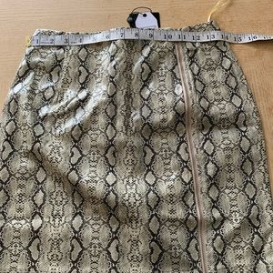 Nasty Gal Skirts - Nasty gal Snake an Entrance Mini Skirt